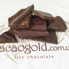 Шоколад чорний 73% (із свіжо-смажених какао бобів), ТМ CacaoGold