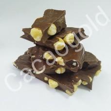 Шоколад молочний з лісовим горіхом (із свіжо-смажених какао бобів), ТМ CacaoGold